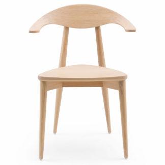 An Image of De La Espada Manta Chair White Oil Oak