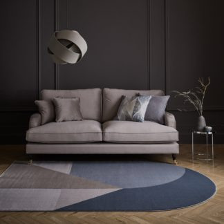 An Image of Gabriel Shaped Rug Blue and Brown