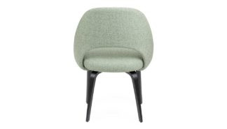 An Image of Knoll Saarinen Conference Chair Gentil Fabric Ebonised Leg