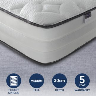 An Image of Silentnight 2000 Pocket Luxury Mattress White