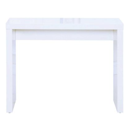 An Image of Puro Wooden High Gloss Grey Console Table Grey