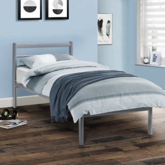 An Image of Alpen Silver Bedstead Silver