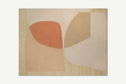 An Image of Casaco Jute & Wool Blend Rug, Large 160 x 230cm, Washed Red