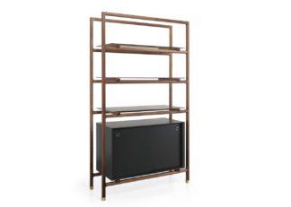 An Image of Wewood Float Bookshelf & Cabinet Walnut