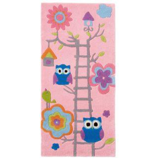 An Image of Pink Hong Kong Owl Rug Pink