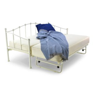 An Image of Paris White Single Day Bed White