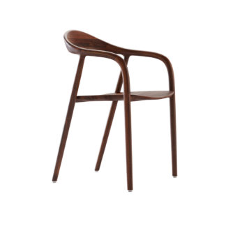 An Image of Artisan Neva Armchair Chair Walnut Wooden Seat