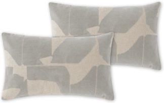An Image of Rudzi Set of 2 Cushions, 30 x 50cm, Soft Taupe
