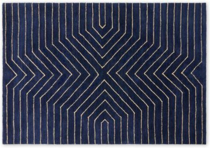 An Image of Moldan Soft Pile Rug, Large 160 x 230cm, Dark Blue
