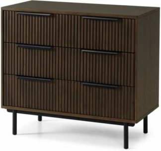 An Image of Anwick Chest of Drawers, Dark Stain Acacia & Black