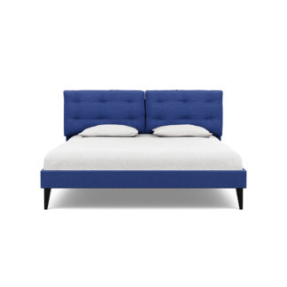 An Image of Heal's Mistral Super King Bed Brushed Cotton Cobalt