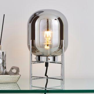 An Image of Dayo Table Lamp Smoked Chrome