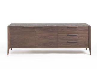 An Image of Porada Atlante 3 Sideboard Walnut & Emperador Marble