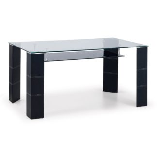An Image of Greenwich Glass Dining Table Black