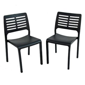 An Image of Mistral Set of 2 Dining Chairs Grey