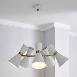 An Image of Archie White 5 Light Ceiling Fitting White