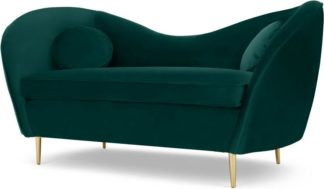 An Image of Kooper 2 Seater Sofa, Seafoam Blue Velvet