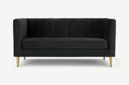 An Image of Amicie 2 Seater Sofa, Dark Anthracite Velvet