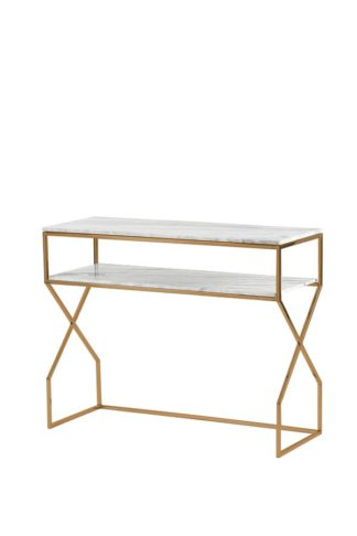 An Image of Alhambra Brass Console Table