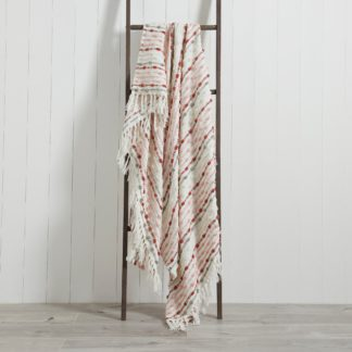 An Image of Dhadit 130cm x 150cm Throw Blush, Grey and White