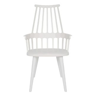 An Image of Kartell Comback Chair White Minimum 2 Chairs