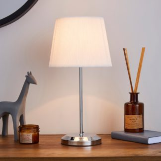 An Image of Jali Ivory Touch Dimmable Table Lamp Ivory