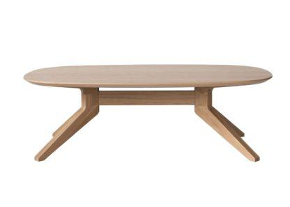 An Image of Case Cross Oak Oval Coffee Table