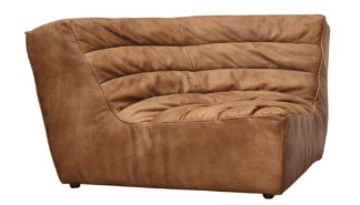 An Image of Timothy Oulton Shabby Corner Seat Savage Leather