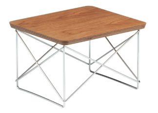 An Image of Vitra Eames Occasional Table LTR American Cherry Veneer Chrome Base