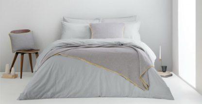 An Image of Alexia Stonewashed Cotton Duvet Cover + 2 Pillowcases, King, Light Grey UK