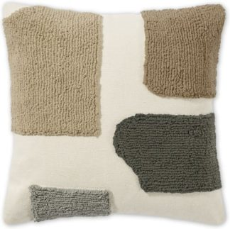 An Image of Mosie Tufted Cotton Cushion, 45 x 45cm, Natural