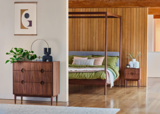An Image of Heal's Amira Bedside Chest Walnut
