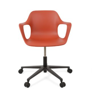 An Image of Vitra Hal Office Armchair In Brick
