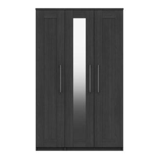 An Image of Ethan Graphite 3 Door Wardrobe Grey