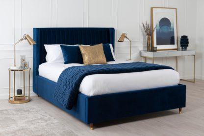 An Image of Baxter Storage Bed Royal Blue
