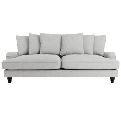 An Image of Beatrice Boucle Scatter Back 4 Seater Sofa Light Grey