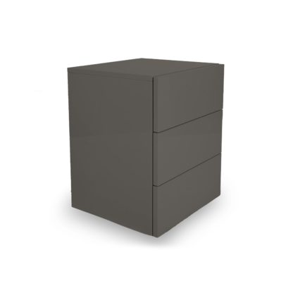 An Image of Heal's Space 3-Drawer Bedside Table Lead Matt Lacquer