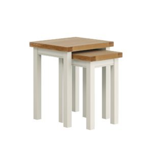 An Image of Compton Ivory Nest of Tables Ivory