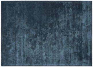 An Image of Merkoya Luxury Viscose Rug, Extra Large 200 x 300cm, Blue Slate