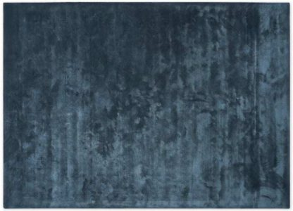 An Image of Merkoya Luxury Viscose Rug, Large 160 x 230cm, Blue Slate