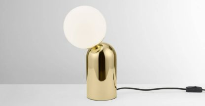 An Image of Vetro Table Lamp, Brass & Opal Glass