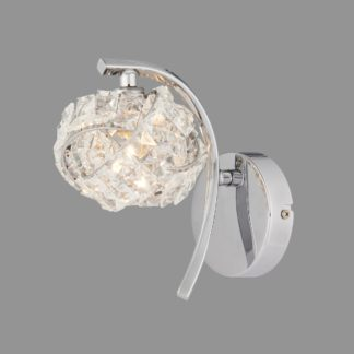 An Image of Cecilie Glass Wall Light Chrome