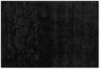An Image of Merkoya Luxury Viscose Rug, Large 160 x 230cm, Black