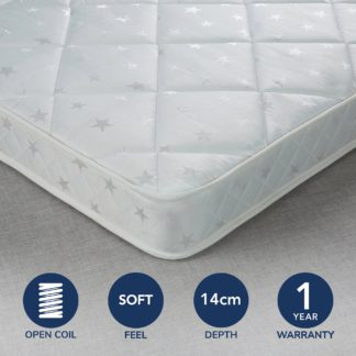 An Image of Fogarty Little Sleepers Anti Allergy Open Coil Mattress White