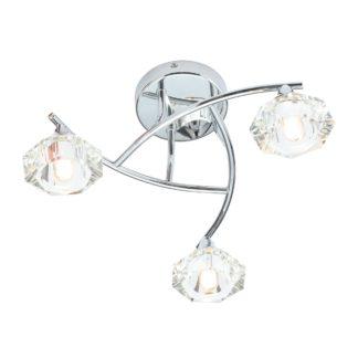 An Image of Spa Reena 3 Light Bathroom Wall Light Chrome