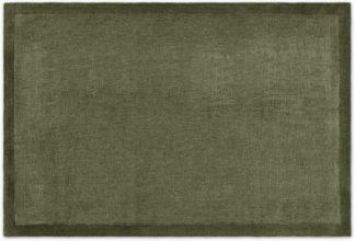 An Image of Jago Border Rug, Large 160 x 230cm, Moss Green
