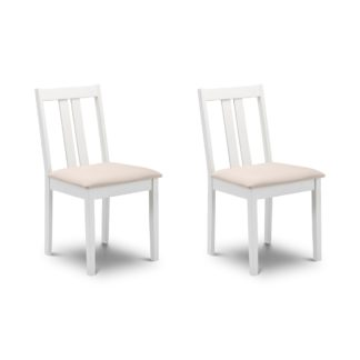 An Image of Rufford Set of 2 Dining Chairs Cream