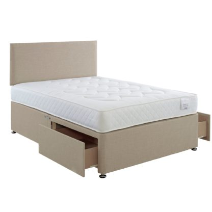 An Image of Comfort Divan Bed with Mattress Grey
