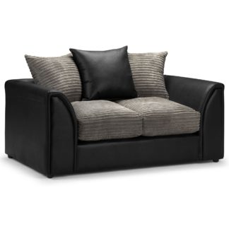 An Image of Byron 2 Seater Sofa Grey/Black