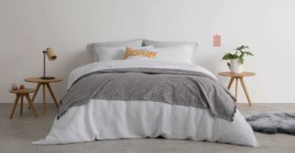 An Image of Waffle Cotton Duvet Cover + 2 Pillowcases, Double, White UK